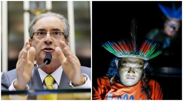 Eduardo Cunha índios Congresso