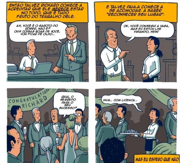 Meritocracia mito Brasil oportunidade quadrinho