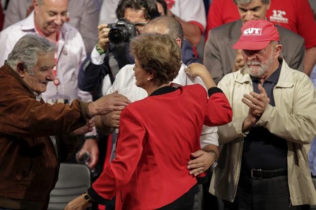 Mujica Dilma Lula CUT