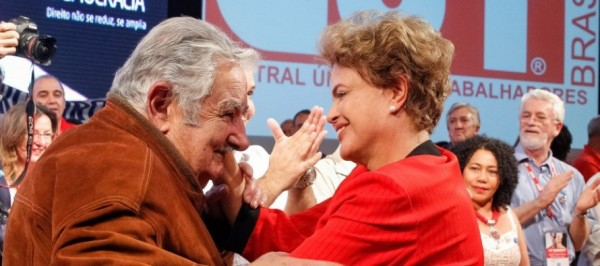 Mujica Lula Dilma CUT