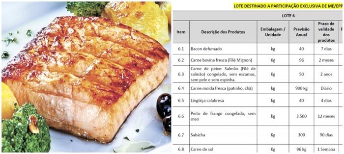 salmão filé TJ MG lanche