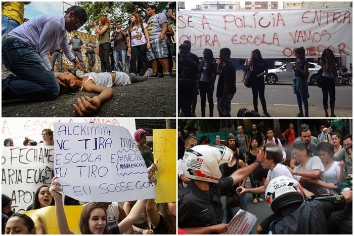 Alckmin escolas são paulo estudantes