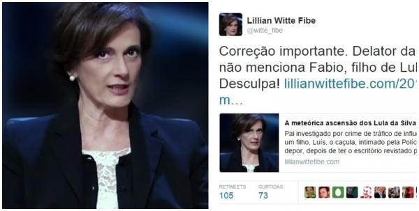 Lilian Witte Fibe filho Lula