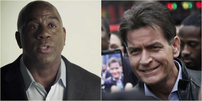 Charlie Sheen HIV Magic Johnson