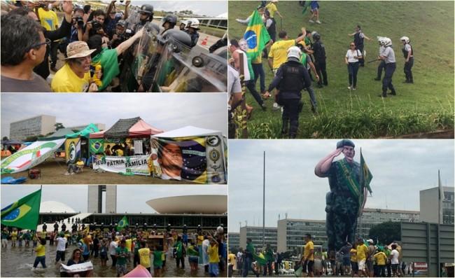 manifestantes Brasília intervenção militar