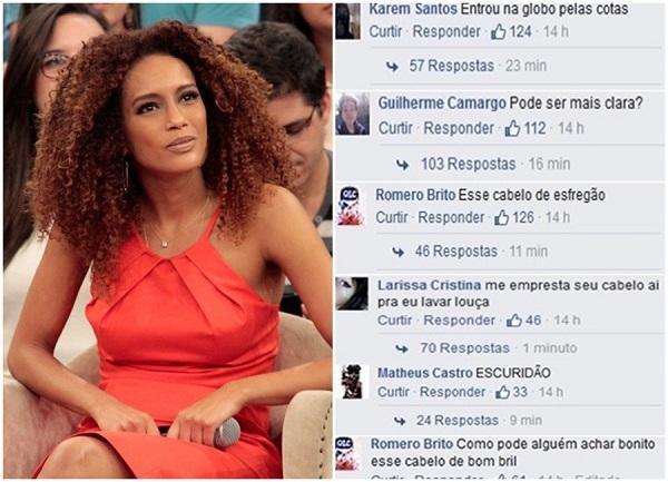 racismo Taís Araújo Facebook