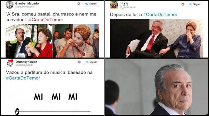 Carta Michel Temer Dilma memes
