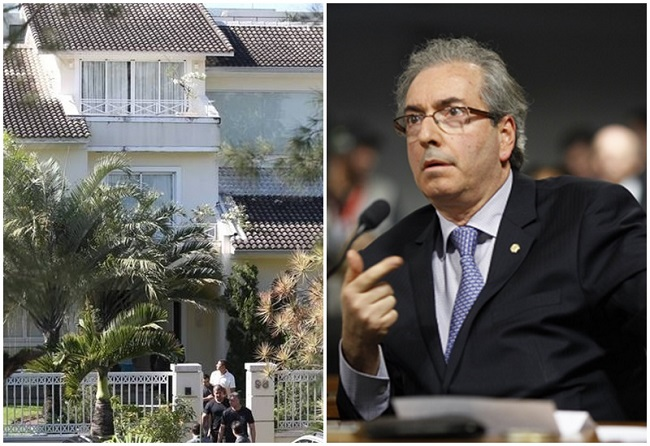 Polícia Federal Eduardo Cunha casa