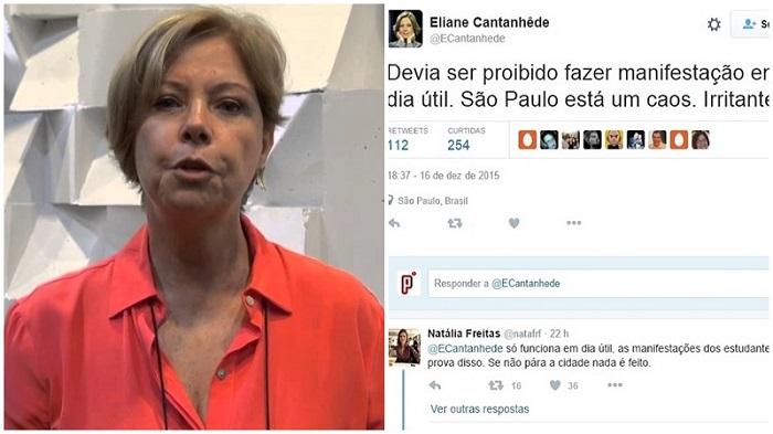Eliane Cantanhêde manifestação impeachment