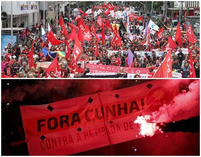 manifestação contra cunha impeachment Dilma