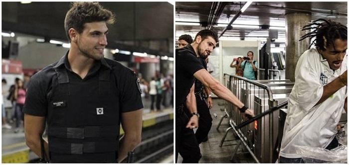 segurança gato metrô de sp