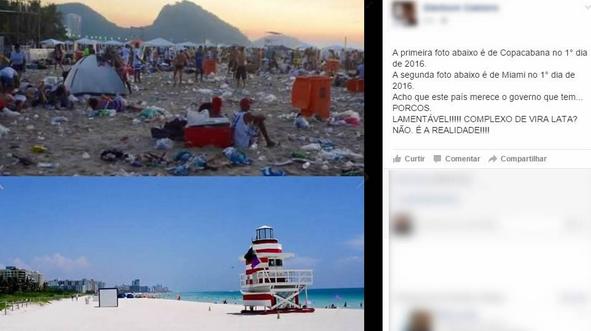Réveillon Copacabana Miami Rio de Janeiro EUA