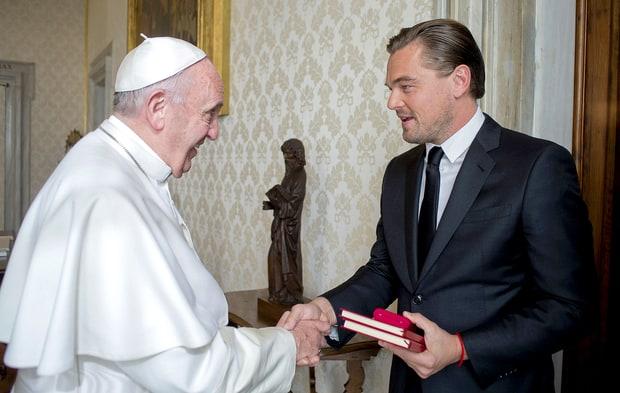 Leonardo DiCaprio papa Francisco