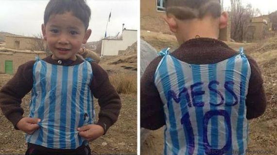 menino Messi sacola plástica