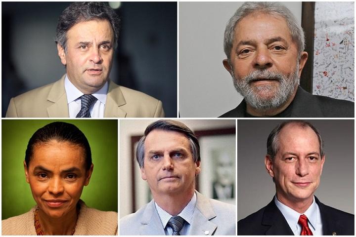 Pesquisa presidência Aécio Lula Bolsonaro Ciro