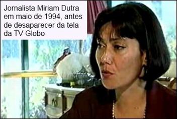 Miriam Dutra, em 1994 (reprodução)