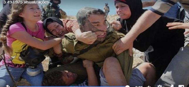 crianças mulheres palestinas soldados israelenses