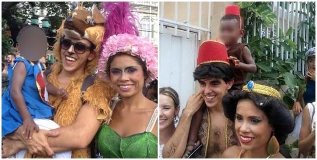 racismo abu carnaval pai foto