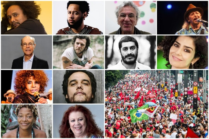 Artistas democracia golpe dilma impeachment