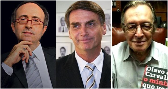 Azevedo, Bolsonaro, Olavo direita conservadores