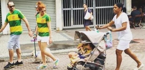 babá foto protestos dilma copacabana