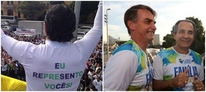 Malafaia, Bolsonaro e Feliciano protesto contra Dilma