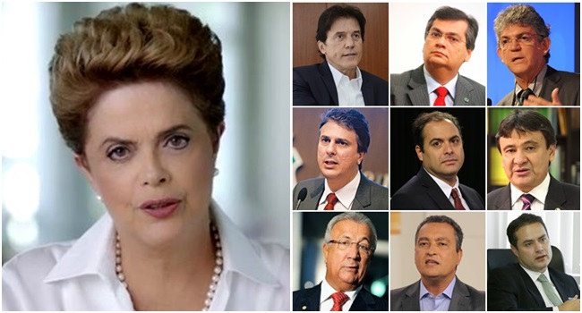 Governadores contra impeachment Dilma Rousseff