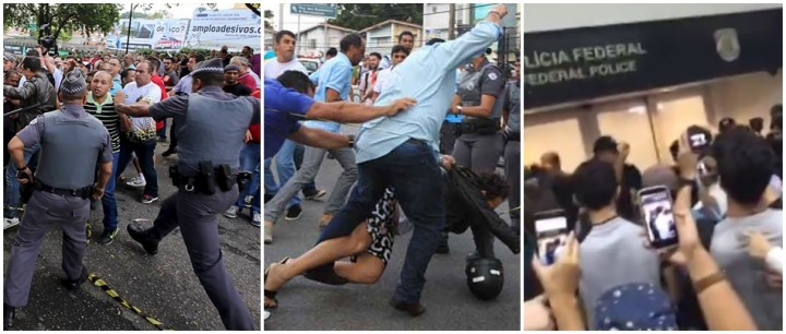 manifestantes Lula Moro PT
