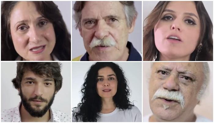 atores globais apoio dilma contra golpe impeachment