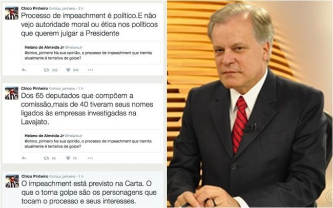 Chico Pinheiro impeachment golpe globo