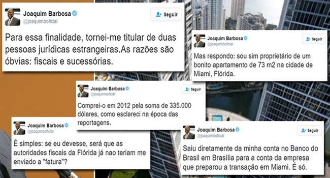 Panamá Papers Joaquim Barbosa se defende