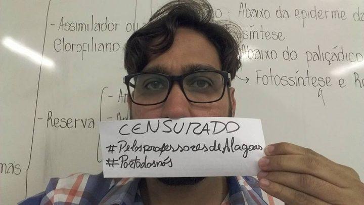 professor alagoas projeto veto censura