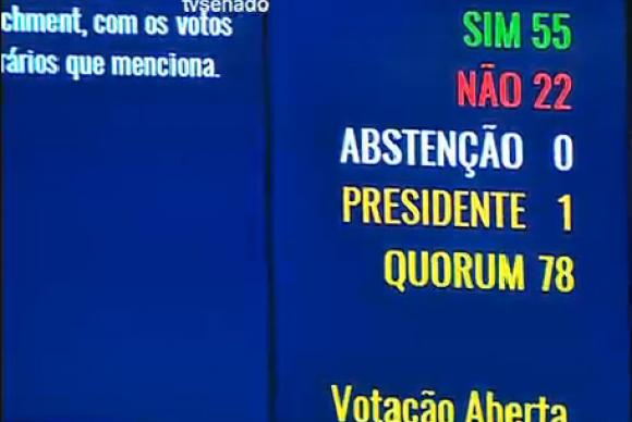 impeachment dilma voto senadores