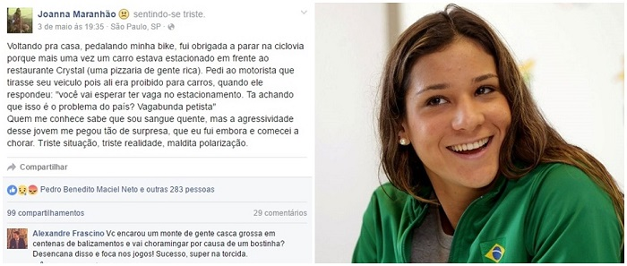 joanna maranhão vagabunda petista