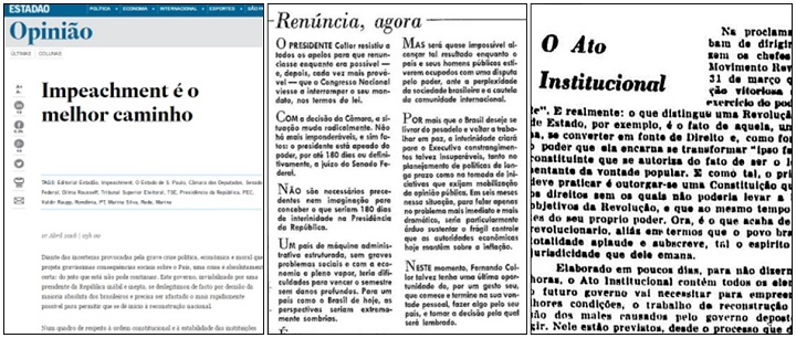 jornais impeachment dilma crise 2016