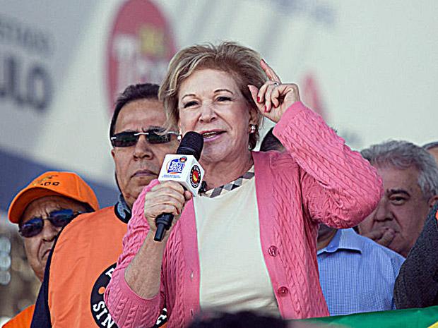 Marta Suplicy vaiada 1o de maio