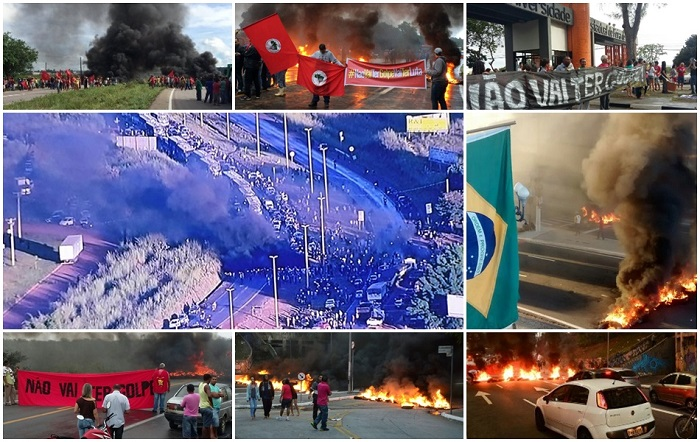 protesto contra impeachment dilma brasil