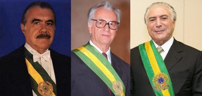 PMDB emplaca 3º presidente sarney temer itamar