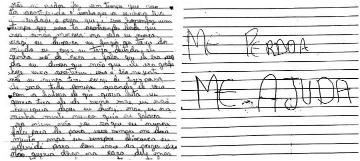 carta menina mãe ajuda pai estupro