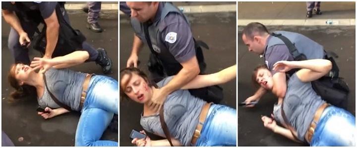mulher agredida pm governo temer