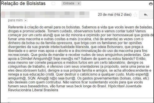 email diego homofobia ufrj