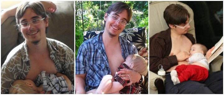 Trevor MacDonald homem trans maternidade e amamentação