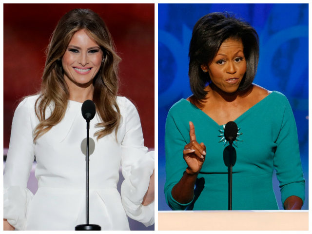 melania trump michelle obama plágio