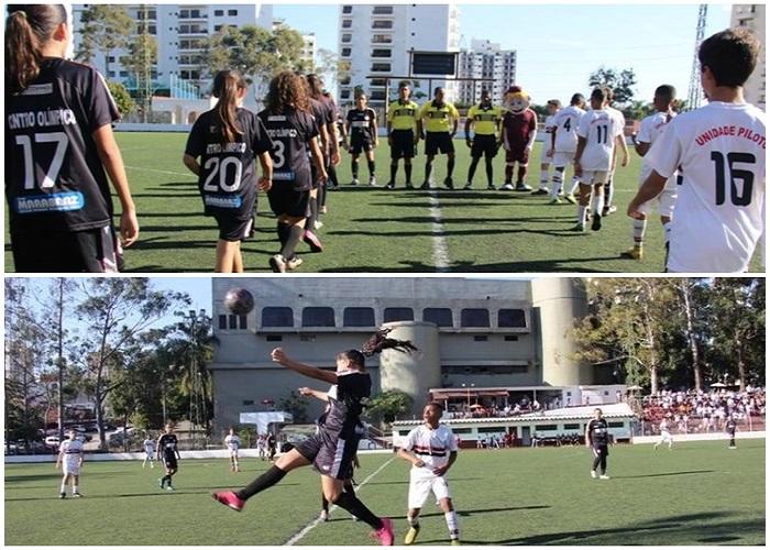 meninas futebol feminino campeonato vence