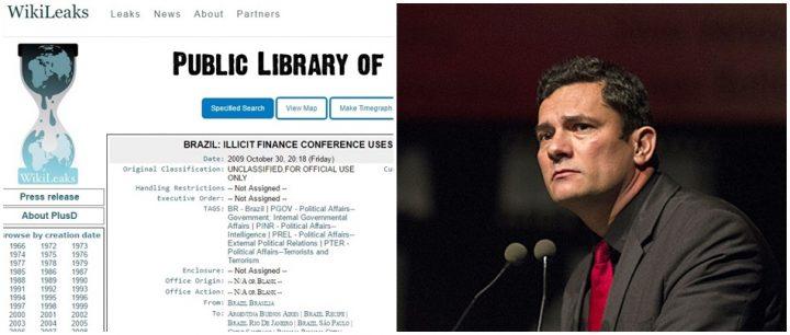 Wikileaks revela influência dos EUA Lava Jato e Sergio Moro fbi
