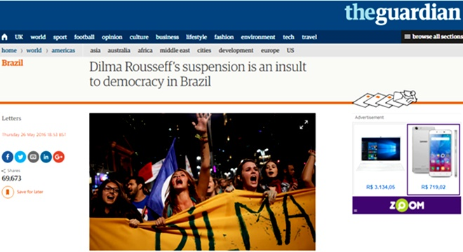 The guardian condena impeachment golpe democracia