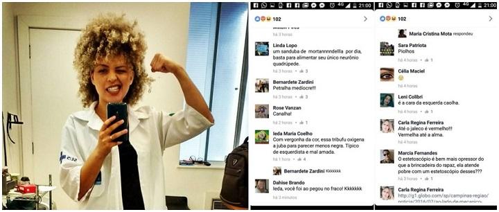 médica Júlia Rocha racismo racista