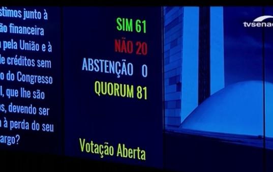 dilma impeachment senado votos