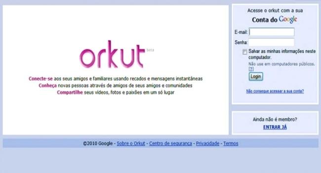 orkut salvar dados fotos vídeos mensagens