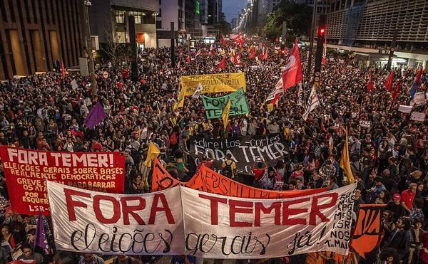 Fora Temer avenida paulista sp